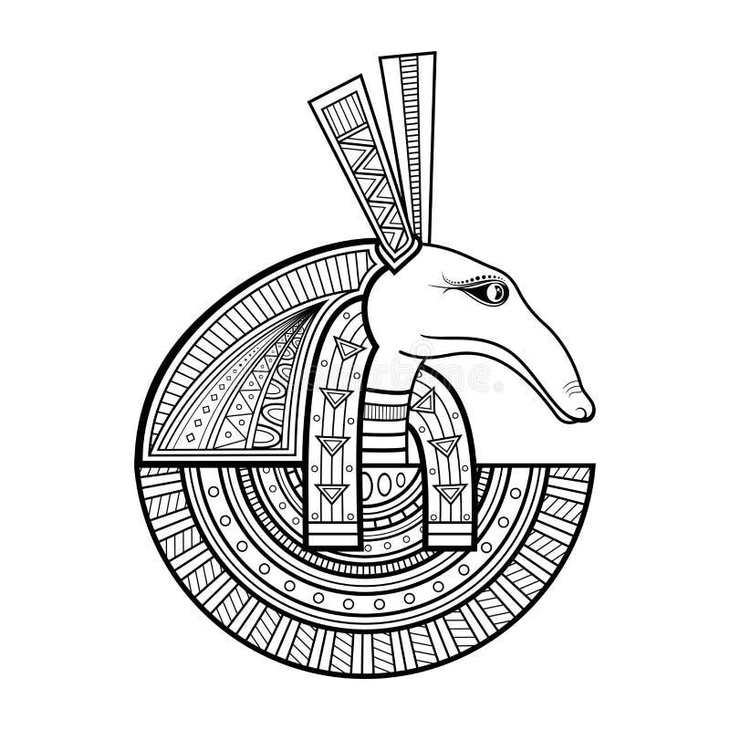 Vektorgud av forntida Egypten vektor illustrationer