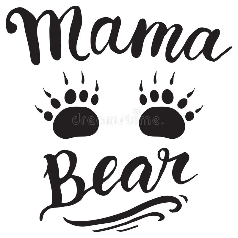 Vektorhälsningkort för gåvaetikettsdekor Mammabjörn royaltyfri illustrationer
