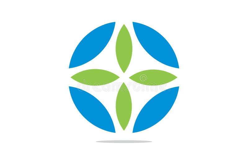 Vektorhälsovård och läkarundersökning Logo Template stock illustrationer