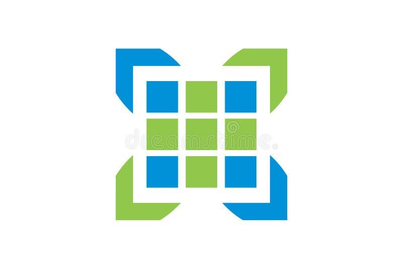 Vektorhälsovård och läkarundersökning Logo Template royaltyfri foto