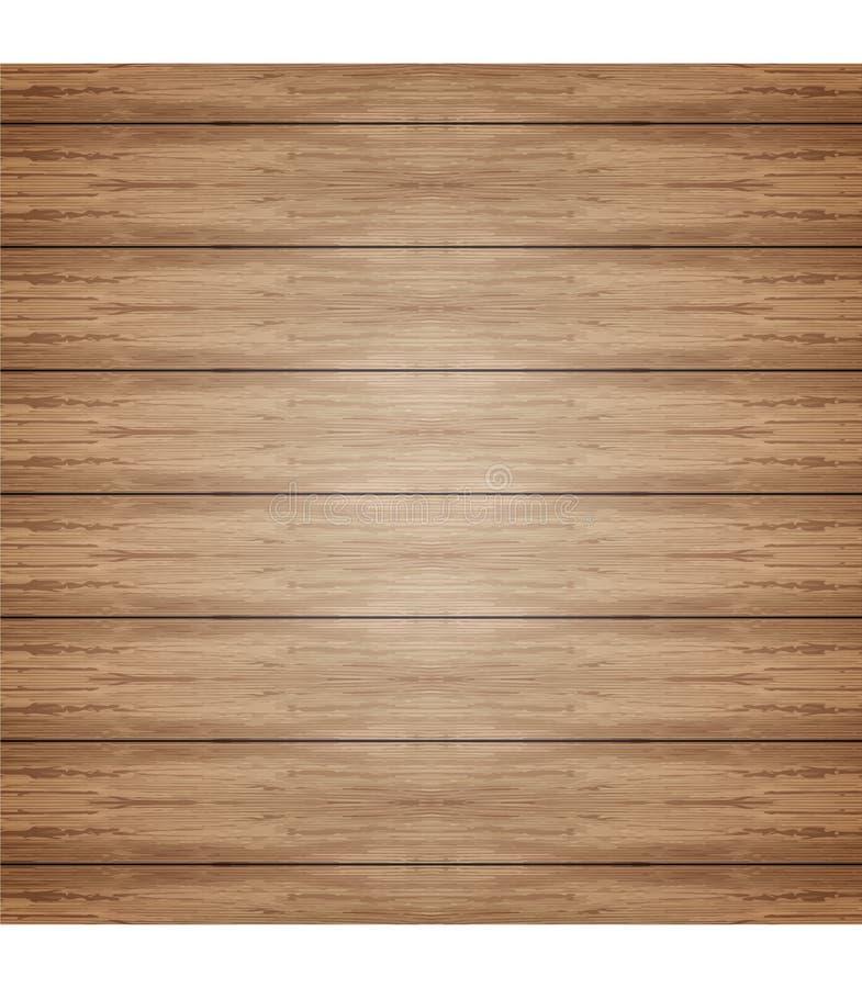 Vektorhölzerner Plankehintergrund stock abbildung