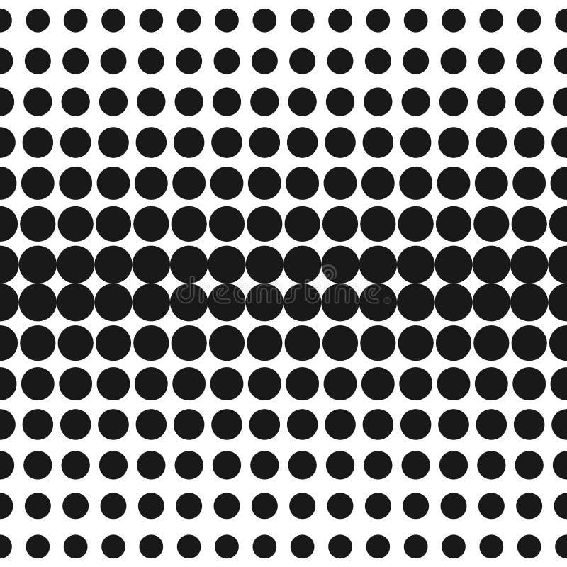 Vektorhalbton kreist Muster ein Quadratisches Gestaltungselement, Wiederholungsfliesen stock abbildung