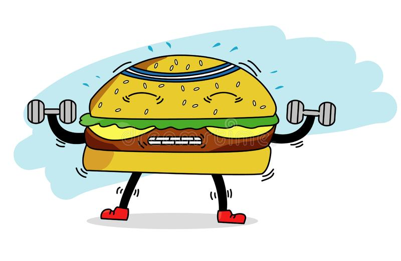 Vektorhamburgertraining lizenzfreie stockfotos