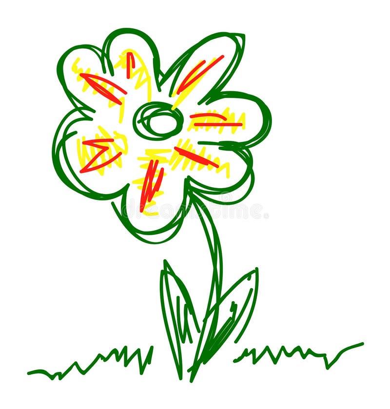 Vektorhand gezeichnete Blume stock abbildung