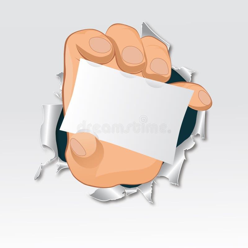 Vektorhand, revapapper stock illustrationer
