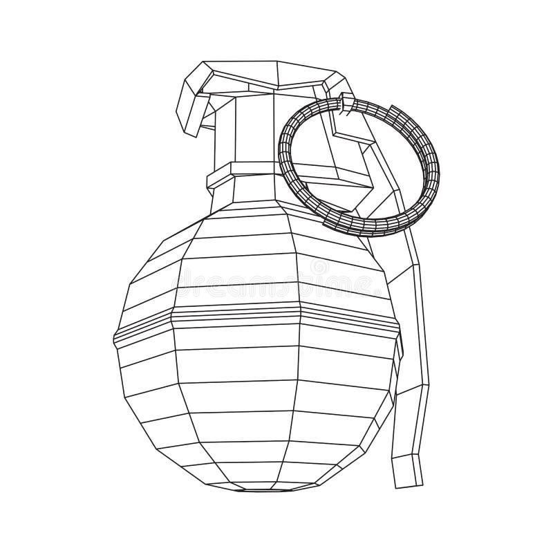 Vektorhanden bombarderar vektor illustrationer
