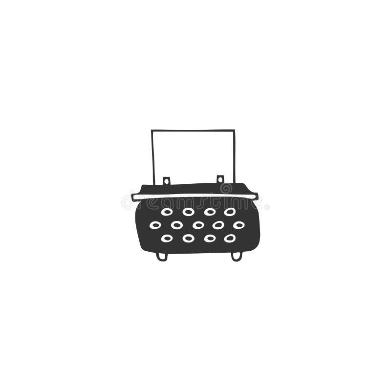 Vektorhandgezogene Ikone, eine Schreibmaschine Veröffentlichen, Schreiben und Copywritingthema vektor abbildung