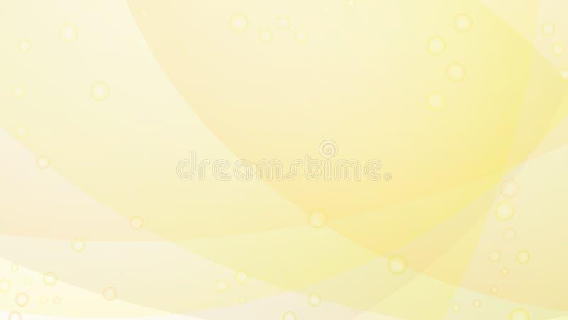 Vektorhellgelber abstrakter kreativer Hintergrund stock abbildung