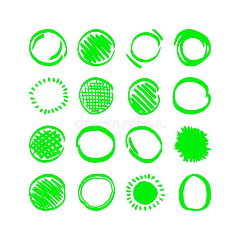 Vektorhighlighterbeståndsdelar royaltyfri illustrationer