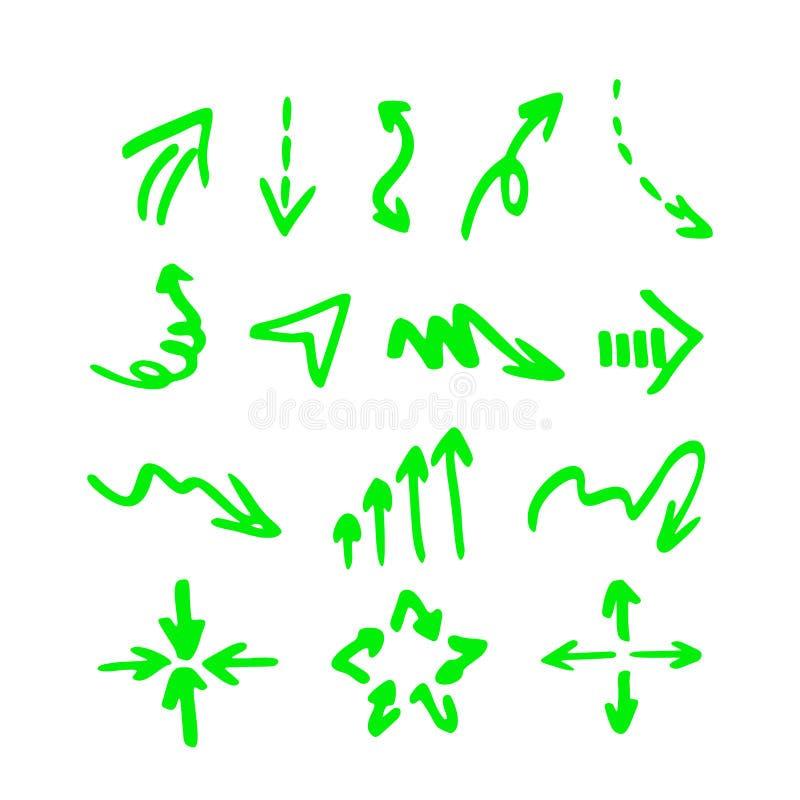 Vektorhighlighterbeståndsdelar stock illustrationer