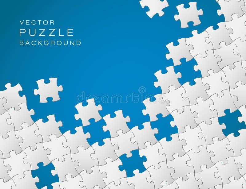 Vektorhintergrund gebildet vom Puzzlespiel stock abbildung
