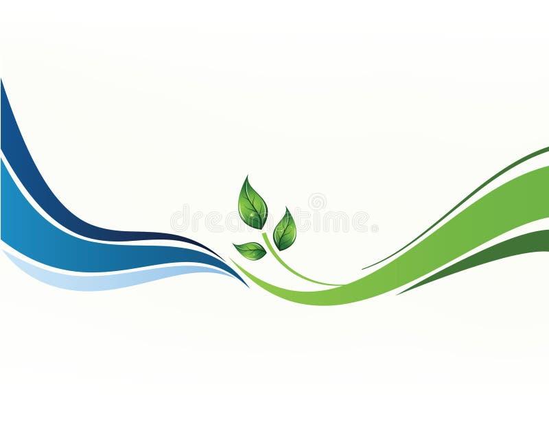 Vektorhintergrund mit Blättern lizenzfreie abbildung