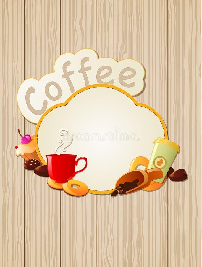 Kaffeeaufkleber vektor abbildung
