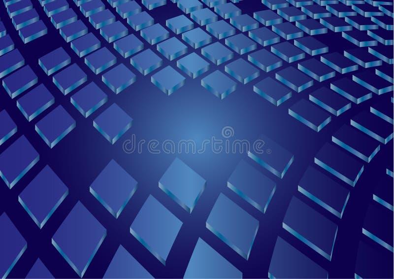 Vektorhintergrund mit Quadrat