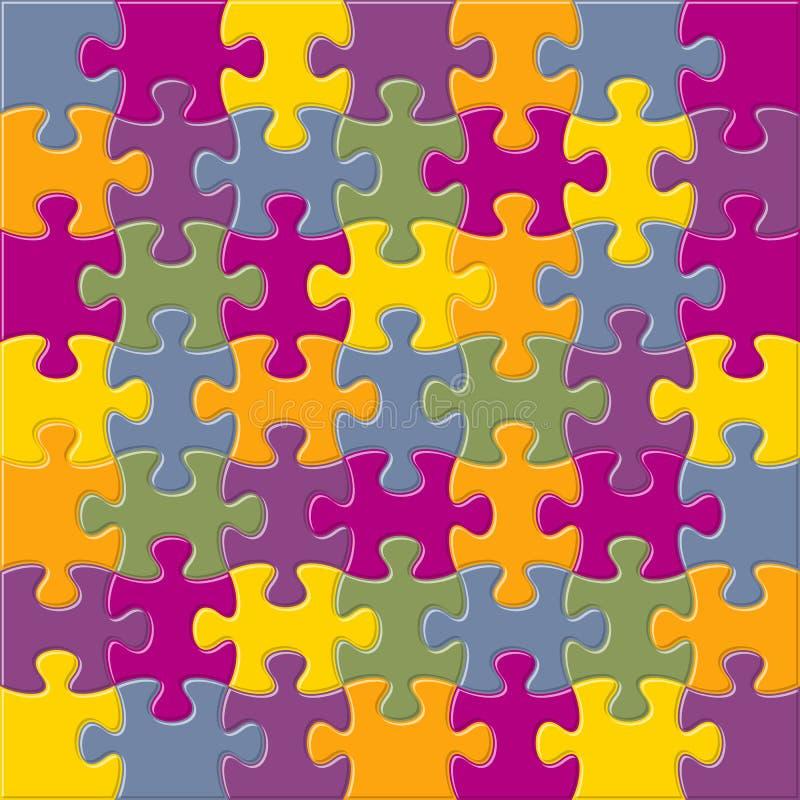 Vektorhintergrund mit verbindenden Puzzlestücken lizenzfreie abbildung