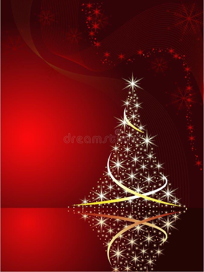 Vektorhintergrund mit Weihnachtsbaum stock abbildung