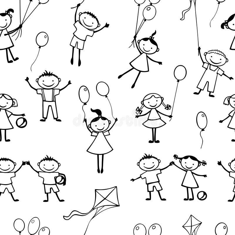 Vektorhintergrund von spielerischen Kindern stock abbildung