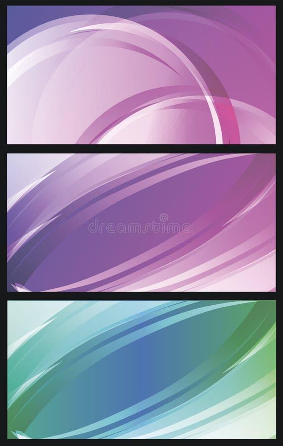 Vektorhintergrundsatz bunte transparente abstrakte Linien herein stock abbildung