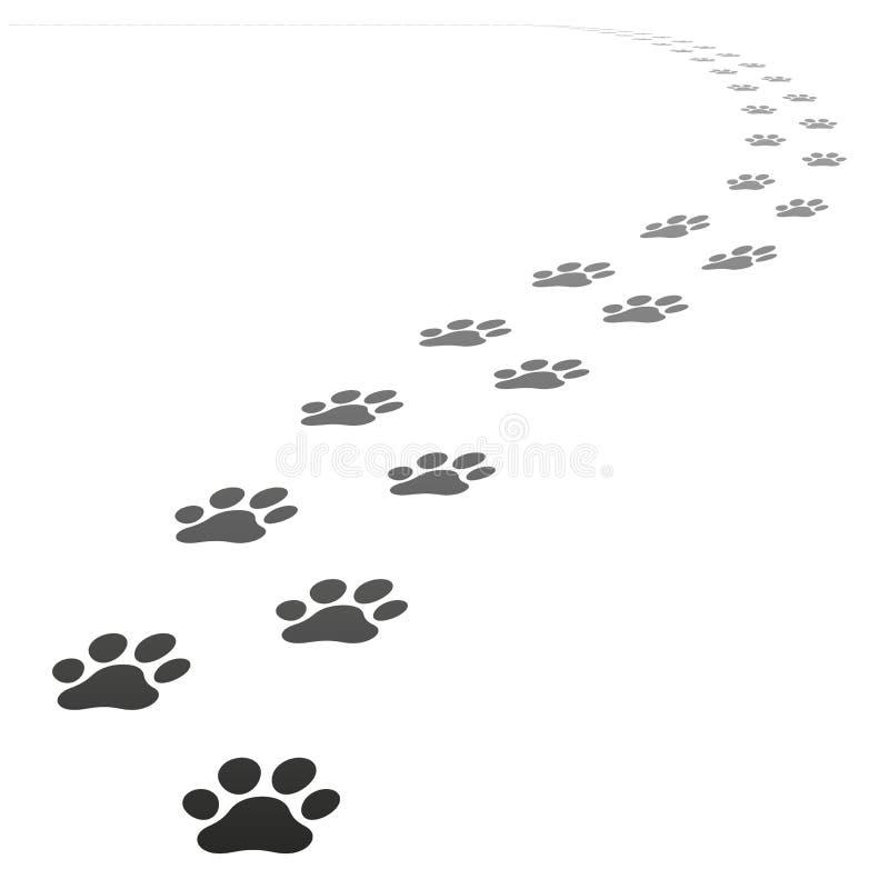 Vektorhunden tafsar tryck royaltyfri illustrationer