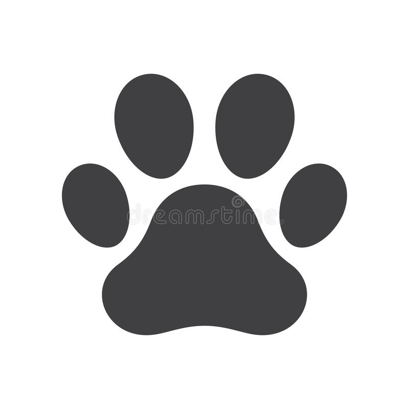 Vektorhundepfotenabdruck stock abbildung