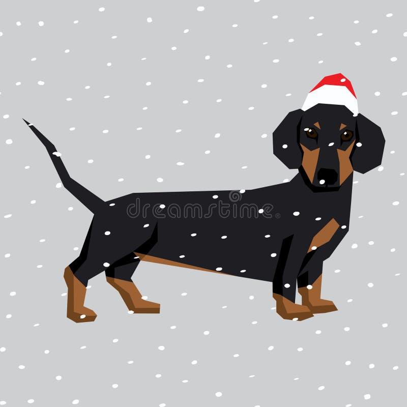 Vektorhundkapplöpningsamling stock illustrationer