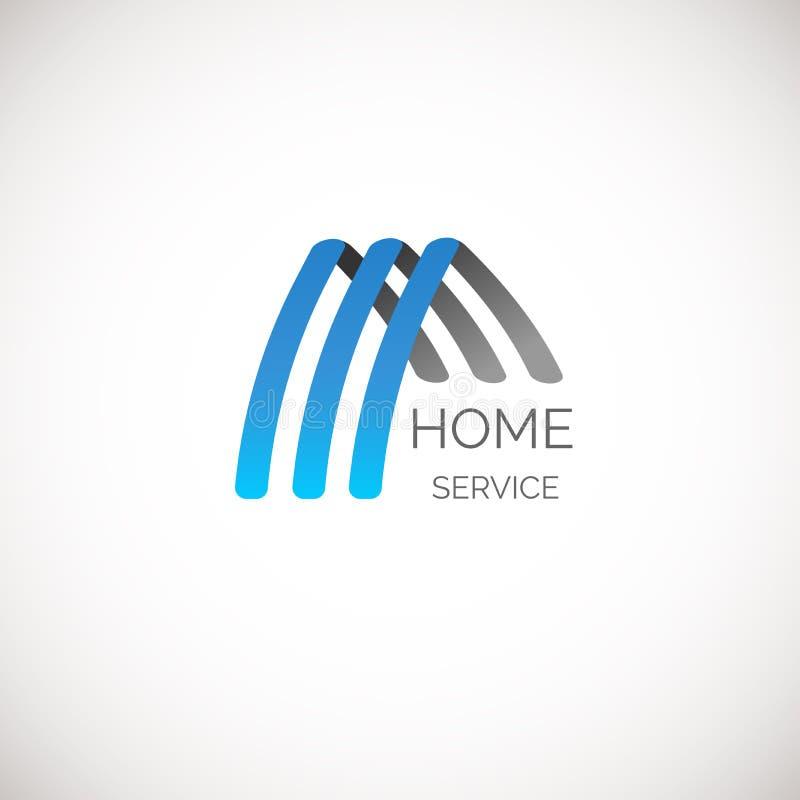 Vektorhuslogo för ditt företag Goda för hemservice, lokalvård, försäkring och annan affär vektor illustrationer