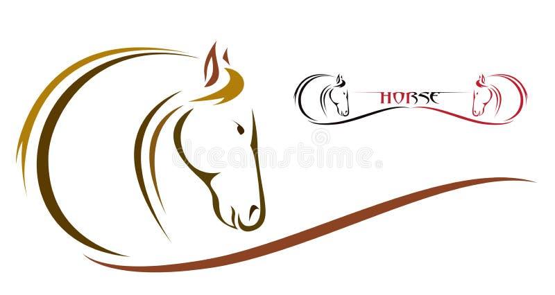 Vektorhuvud av hästen vektor illustrationer