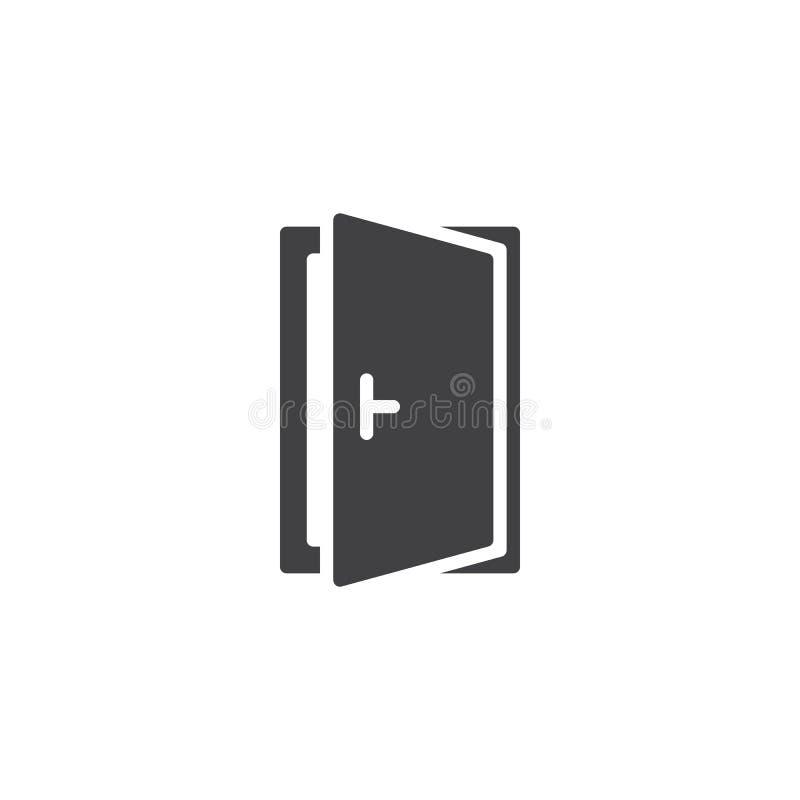Vektorikone der offenen Tür stock abbildung