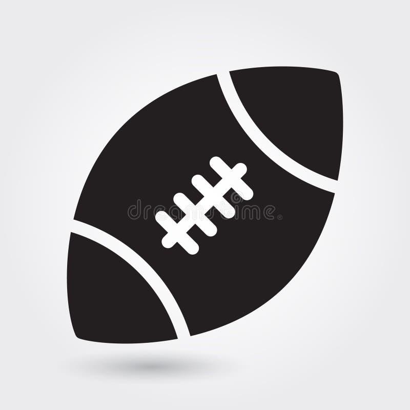 Vektorikone des amerikanischen Fußballs, Sportballsymbol Moderne, einfache flache Vektorillustration stock abbildung