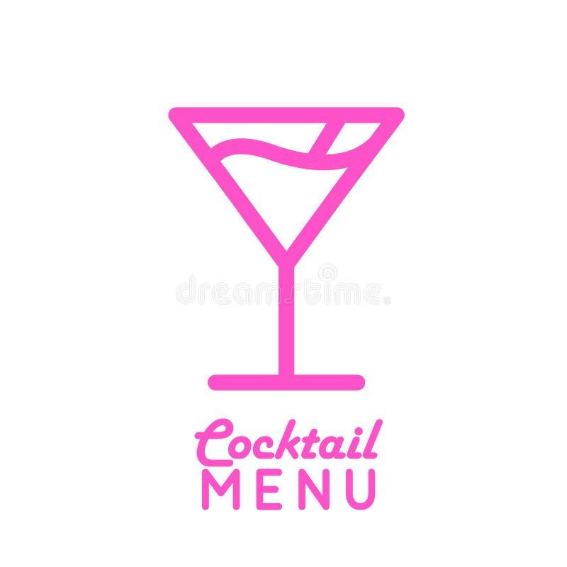 Vektorikone des Cocktails kosmopolitisch lizenzfreie abbildung