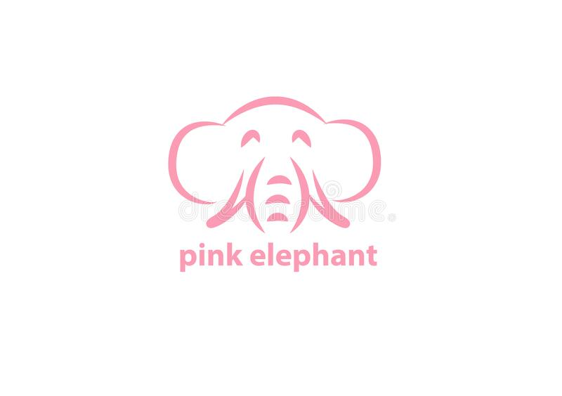 Vektorikone des rosa Elefanten für Gebrauch vektor abbildung