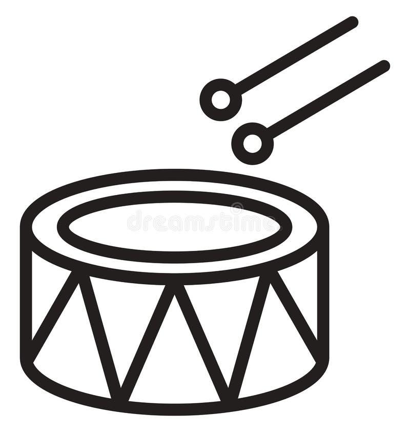 Vektorikone die Trommel der Kinder, die leicht geändert werden oder redigieren kann vektor abbildung