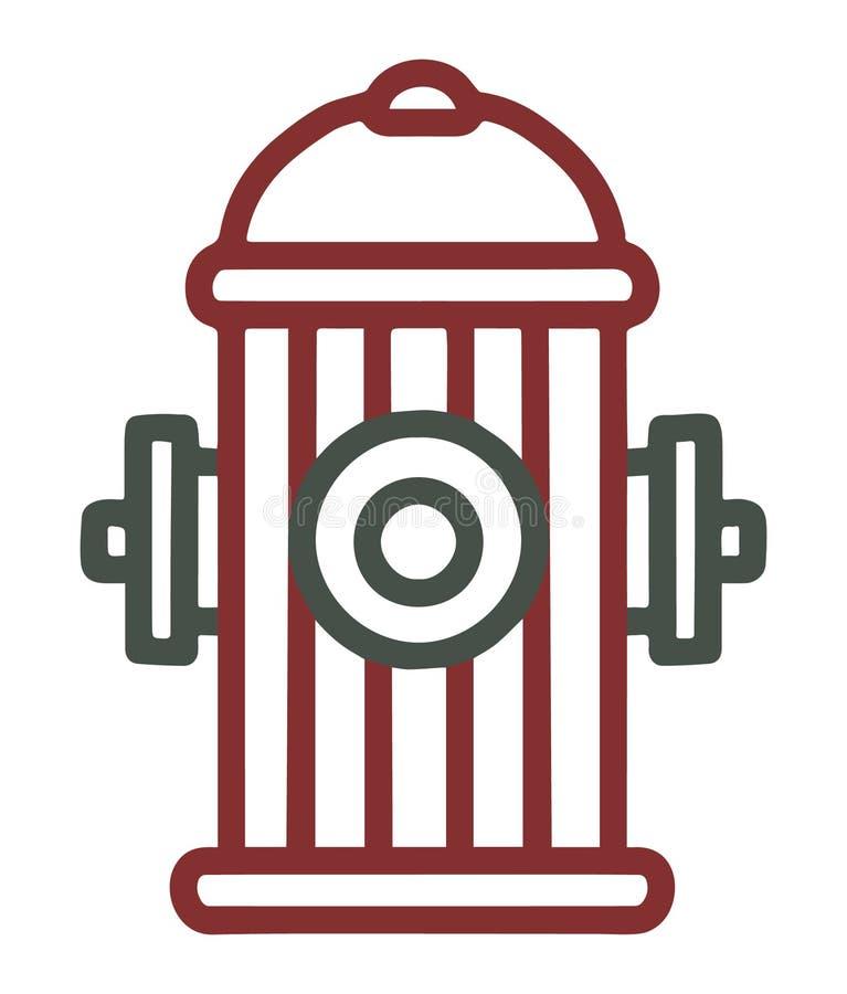 Vektorikone eines Hydranten stock abbildung