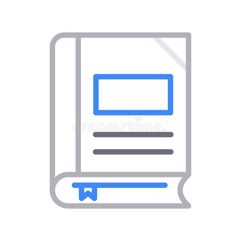Vektorikone lline Farbe des Bookmarks dünne lizenzfreie abbildung
