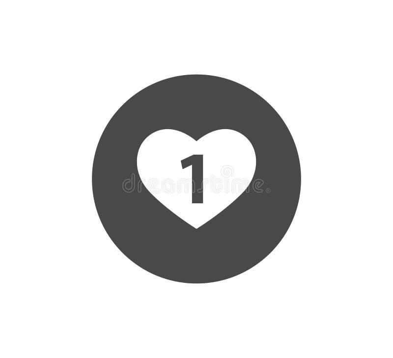 Vektorikone mit Herzform, Mitteilungsknopf lizenzfreie abbildung