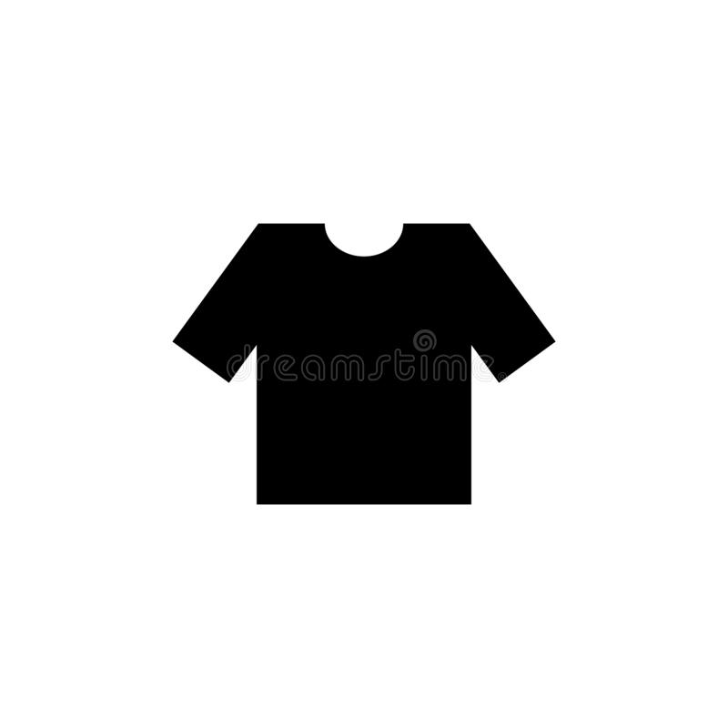Vektorikone T-Shirt fllat Illustration vektor abbildung