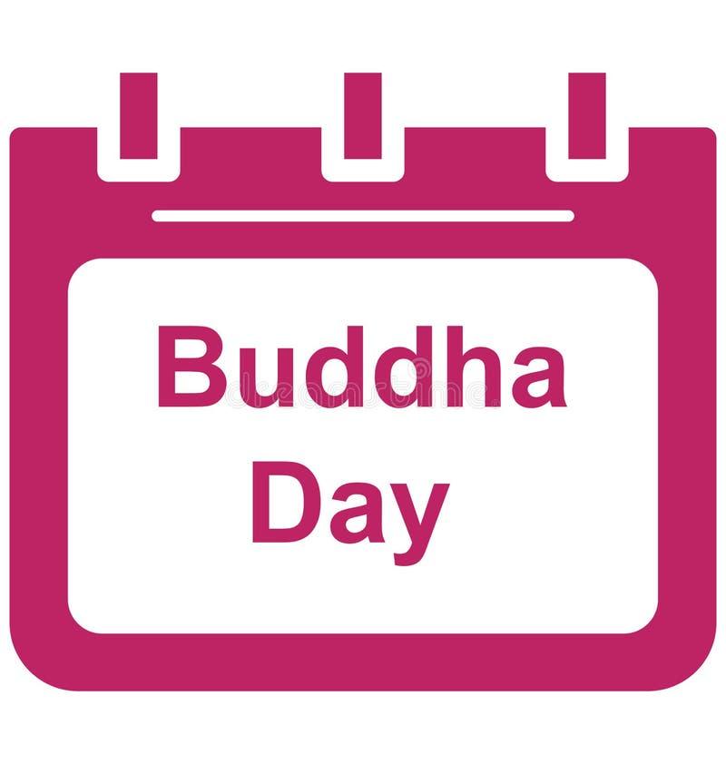 Vektorikone Tag des Buddha-Tagbesonderen anlasses, die leicht geändert werden oder redigieren kann vektor abbildung