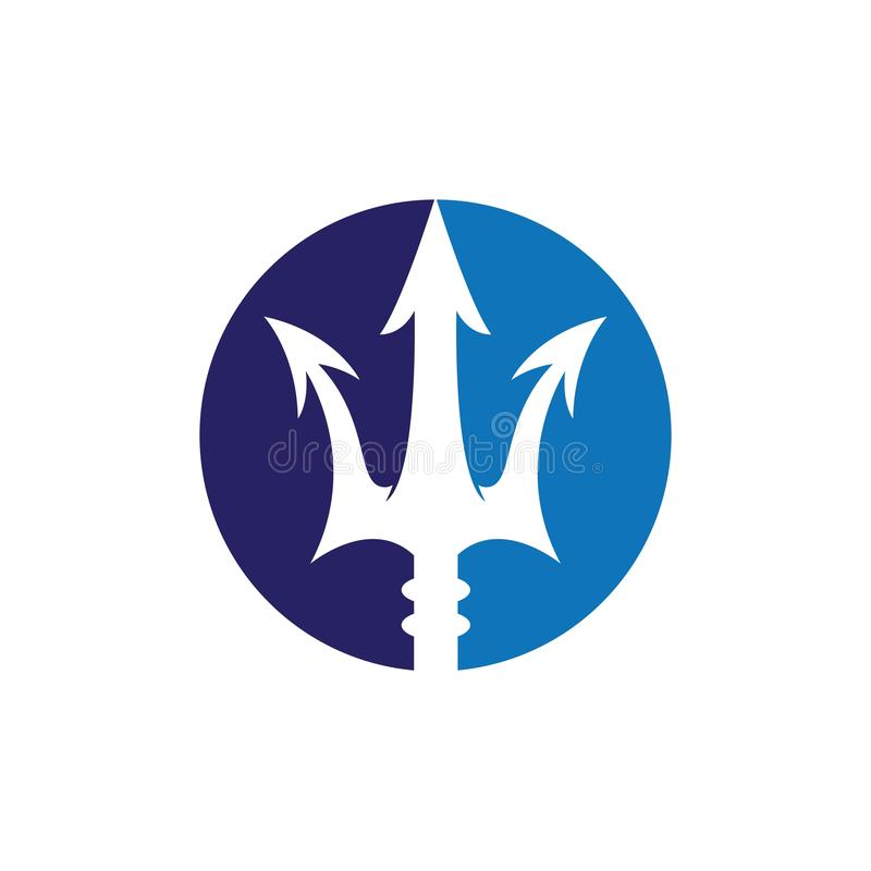 Vektorikone Tridents Logo Template stock abbildung