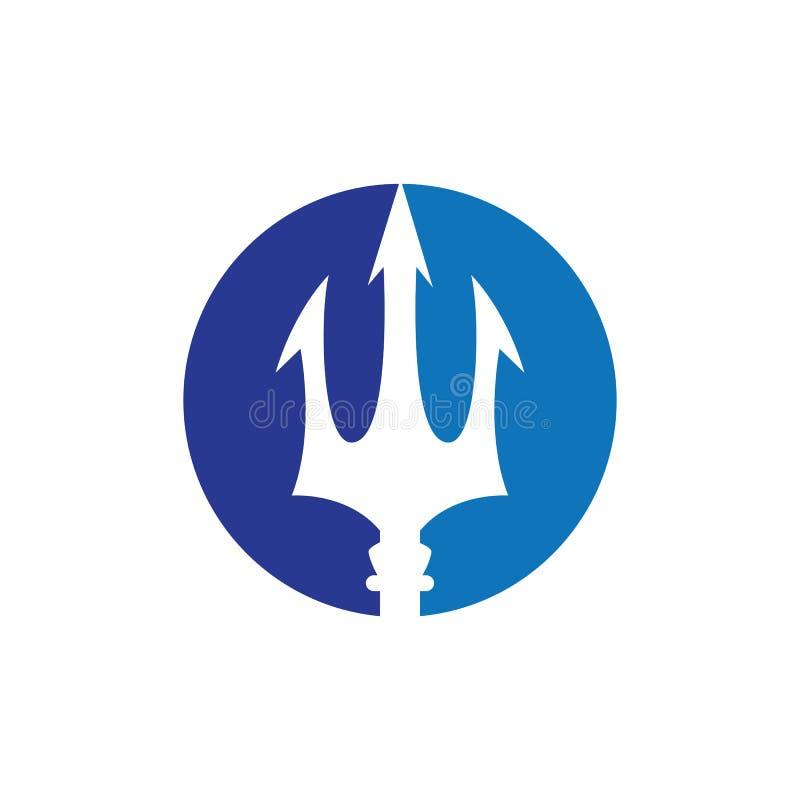 Vektorikone Tridents Logo Template vektor abbildung