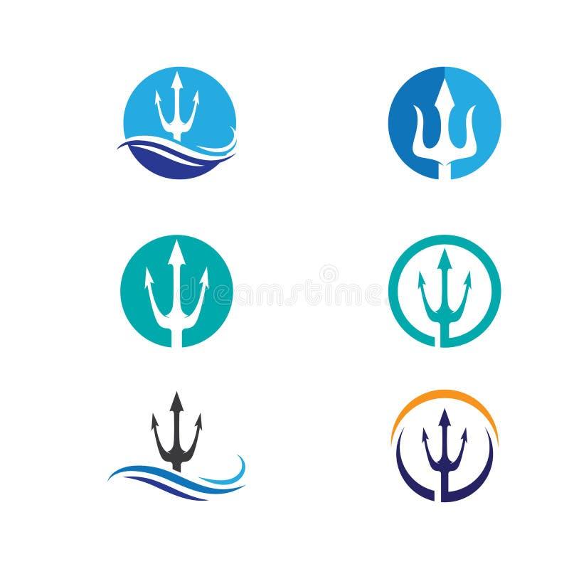 Vektorikone Tridents Logo Template lizenzfreie abbildung