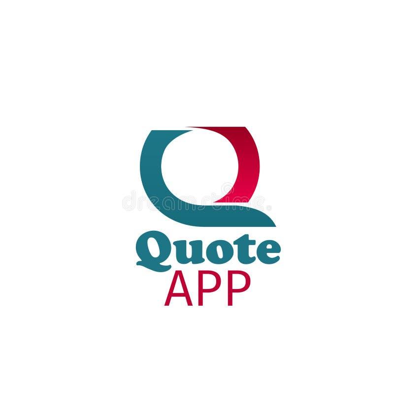 Vektorikone Zitat App lizenzfreie abbildung