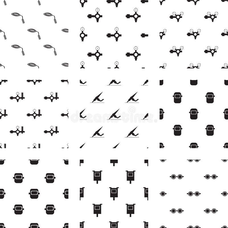 Vektorikonen eingestellt für Schweißer vektor abbildung