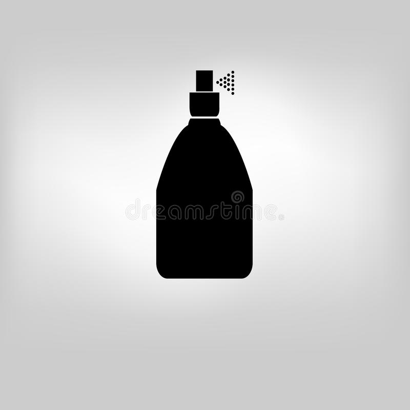 Vektorikonen-Flaschenspray lizenzfreie abbildung