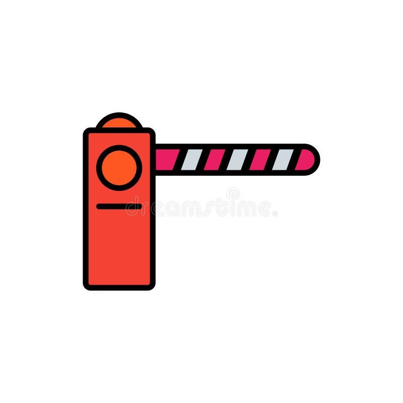 Vektorikonen-Zeichensymbol der Sperre flaches lizenzfreie abbildung