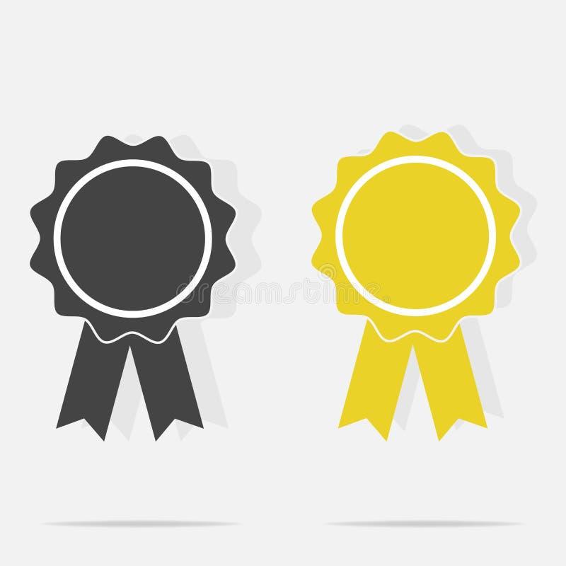 Vektorikonenmedaille Ehrenmedaille, Glückwünsche lizenzfreie abbildung