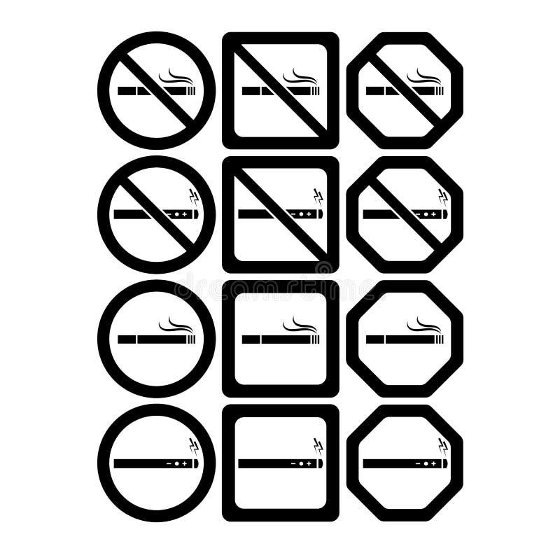 Vektorikonensatz von Nichtraucher- und von Rauchen erlaubt vektor abbildung