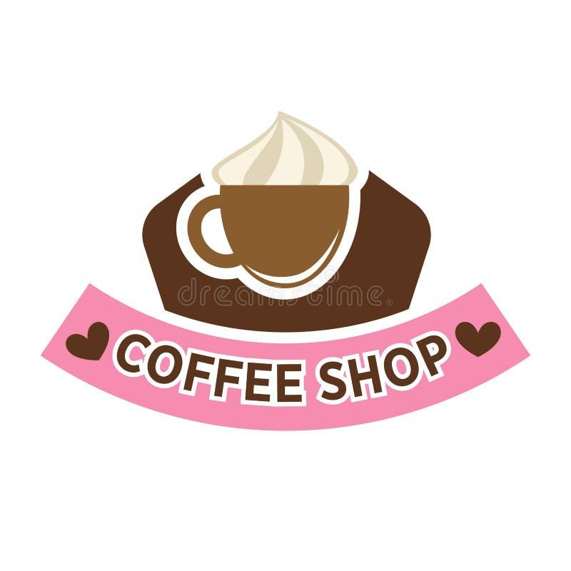 Vektorikonenschablone Coffeeshop, der Cafeteria oder des Cafés vektor abbildung