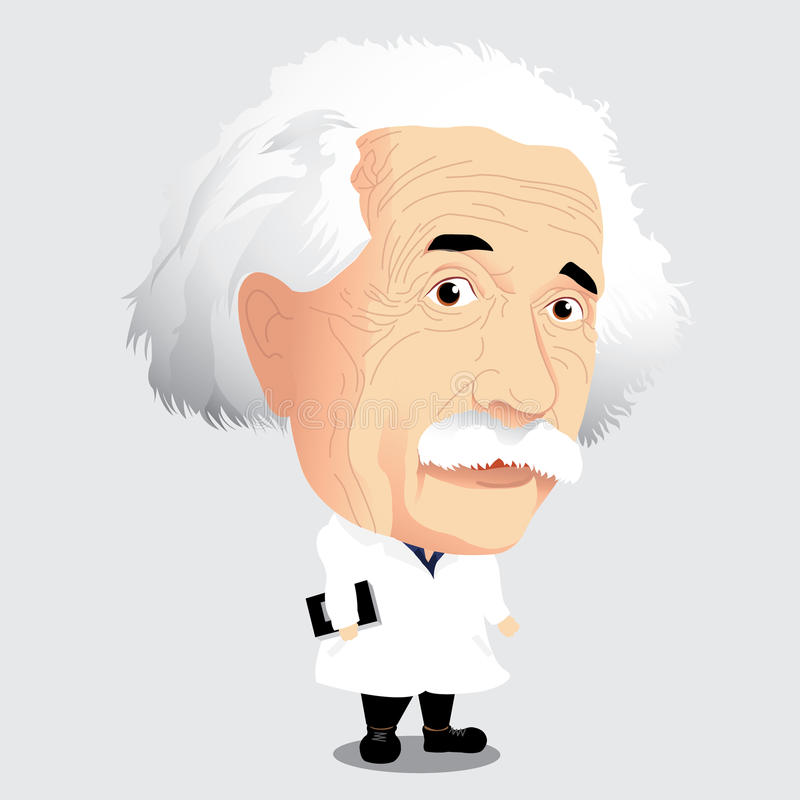 Vektorillustration - Albert Einstein stockfoto