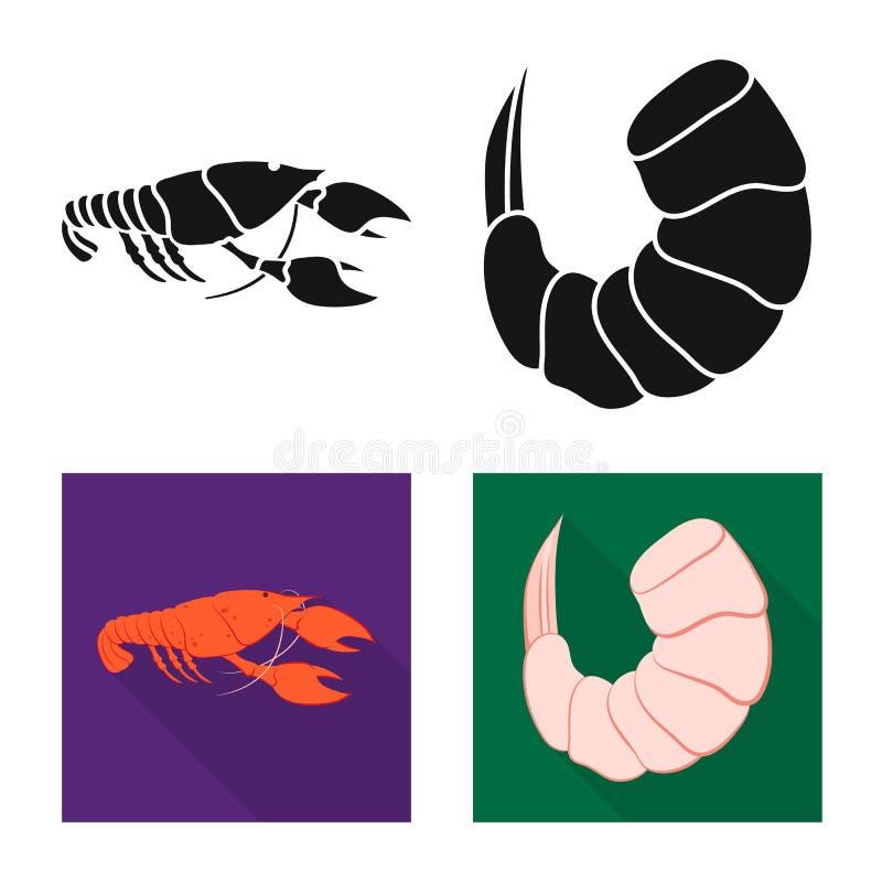 Vektorillustration av aptitretare- och havsymbolet St?ll in av aptitretare- och l?ckerhetvektorsymbolen f?r materiel royaltyfri illustrationer