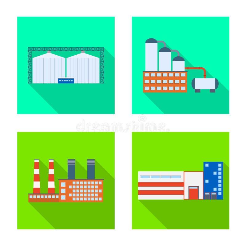 Vektorillustration av arkitektur- och teknologisymbolet Samling av arkitektur- och byggnadsvektorsymbolen f?r materiel vektor illustrationer